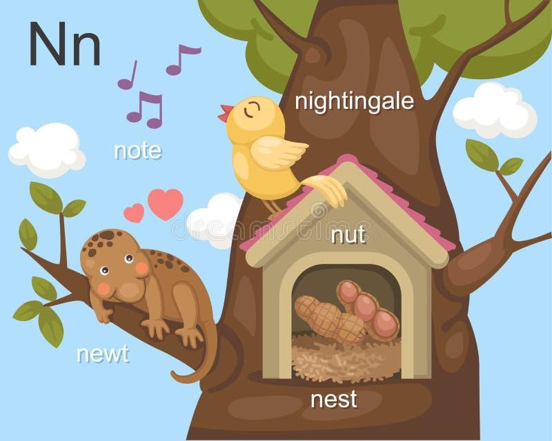 Alphabet.N illustration stock