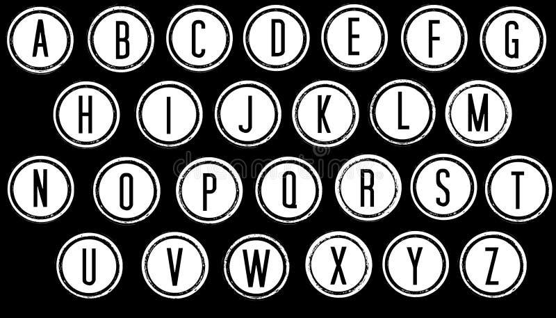 Alphabet noir et blanc photo stock