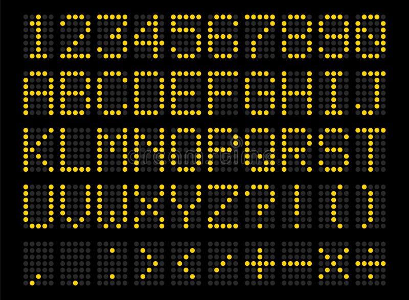 Alphabet numérique mené illustration libre de droits