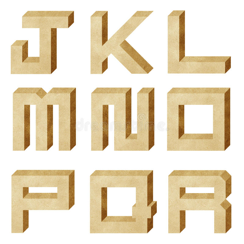 Download Alphabet Number Recycled Paper Craft Stock Photography - Image: 21342442