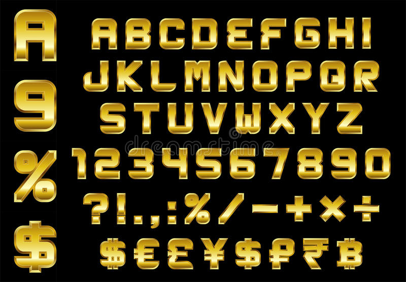 Alphabet Numbers Currency And Symbols Pack Rectangular Bevel