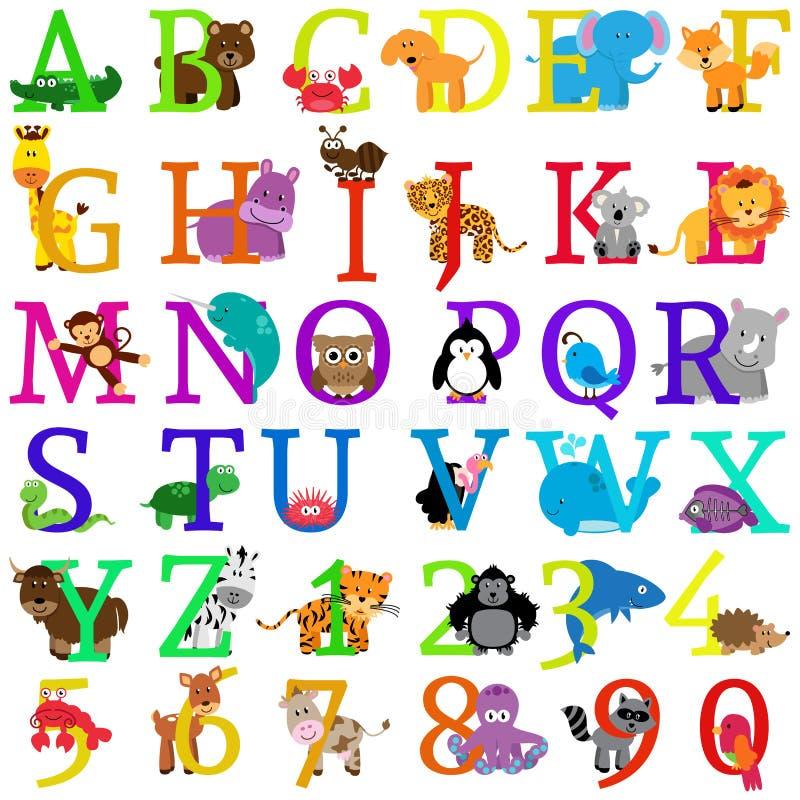Alphabet orienté animal de vecteur illustration de vecteur