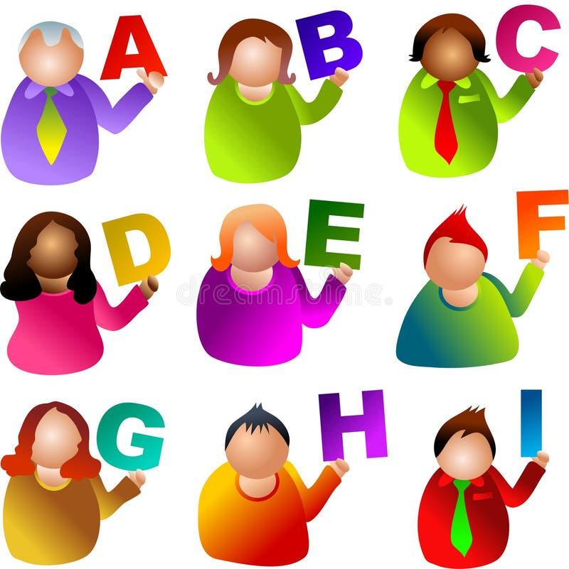 Alphabet people stock illustration