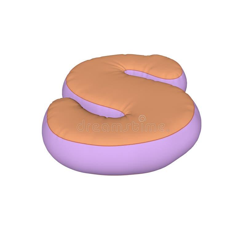 Alphabet pillow letter stock image