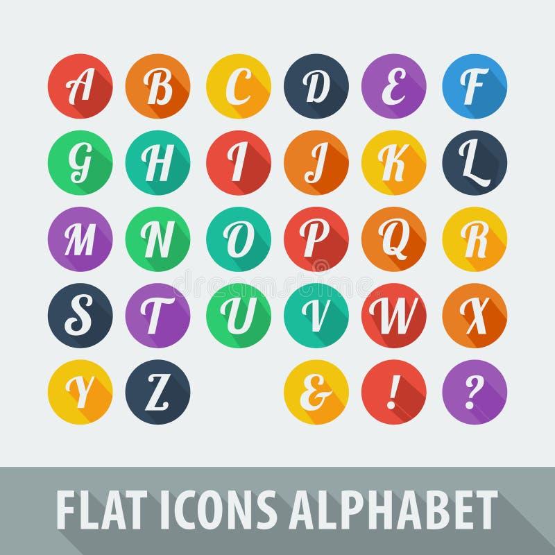 Alphabet plat d'icônes illustration libre de droits