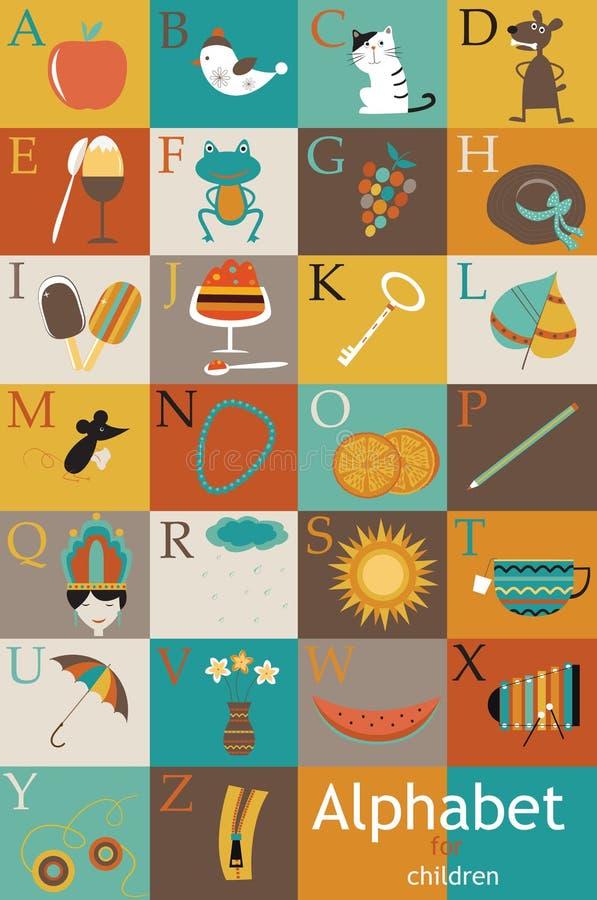 Alphabet pour des enfants. illustration libre de droits