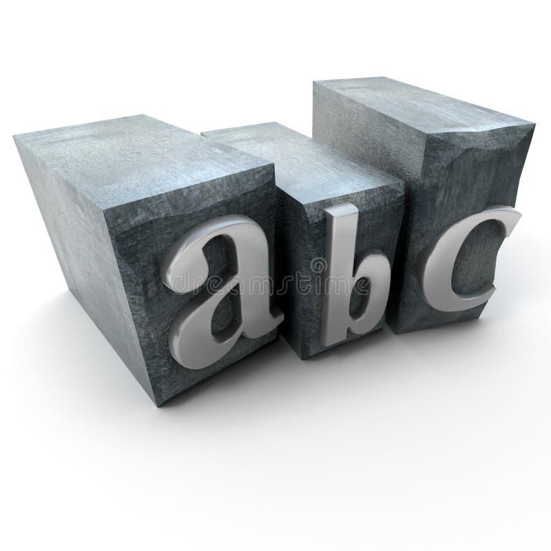 Alphabet in print letter cases royalty free illustration