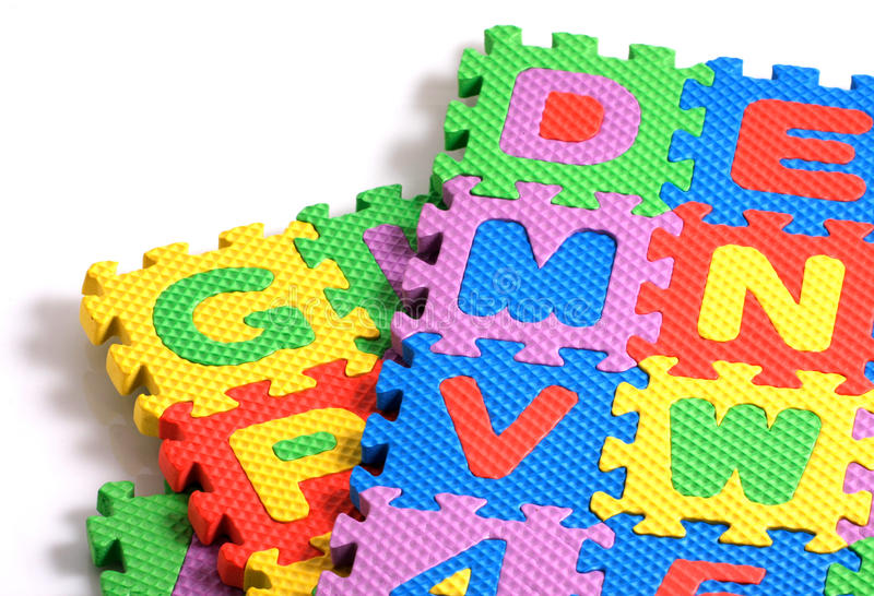 Alphabet Puzzle Pieces Royalty Free Stock Photos