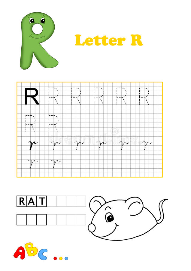 Alphabet, rat stock images