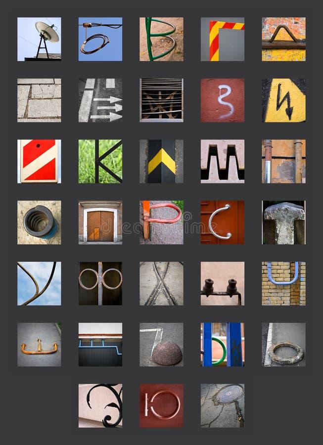 Alphabet russe cyrillien abstrait illustration de vecteur