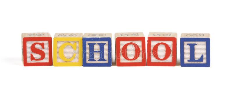 Alphabet school blocks royalty free stock image