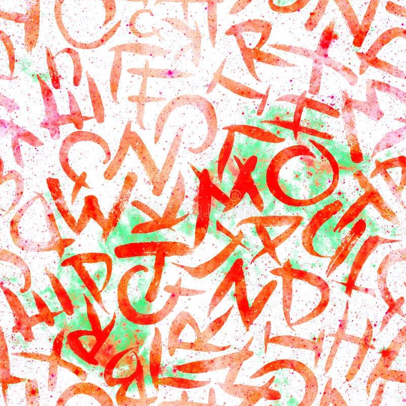 Alphabet seamless pattern.  Red universe royalty free stock photos