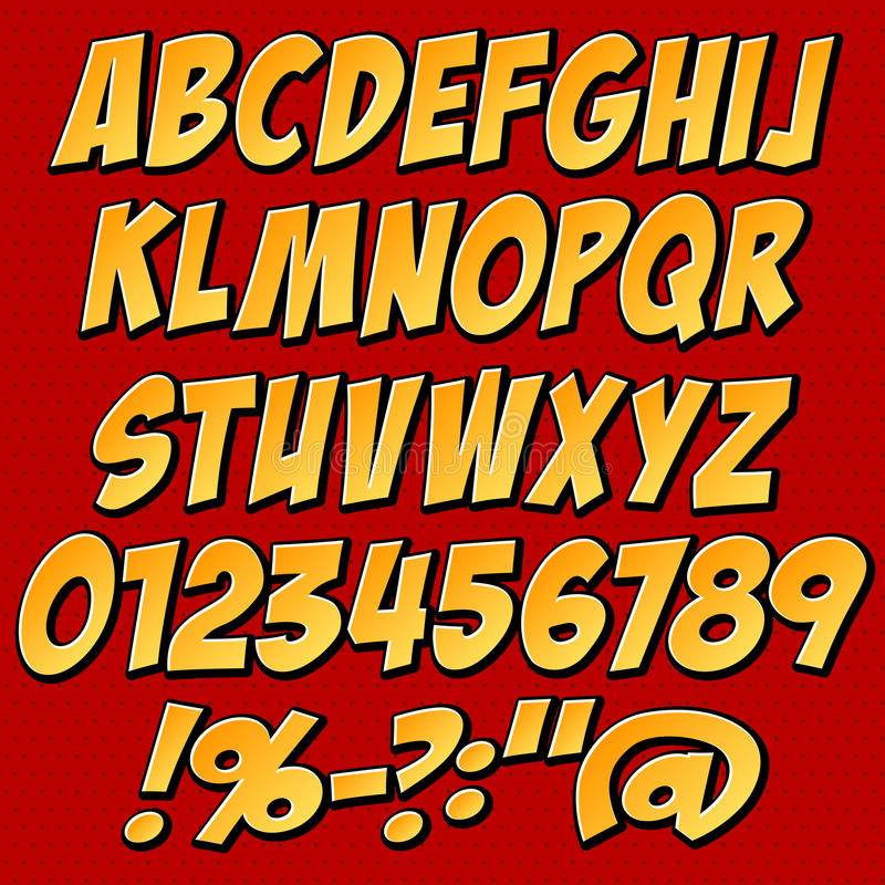 Alphabet Set Stock Photography