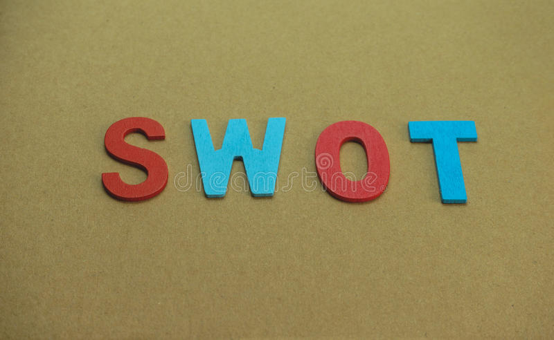 Alphabet SWOT royalty free stock photos