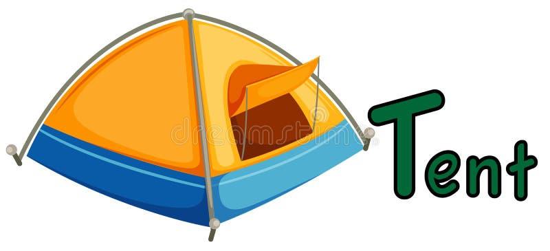 Alphabet T pour la tente illustration stock