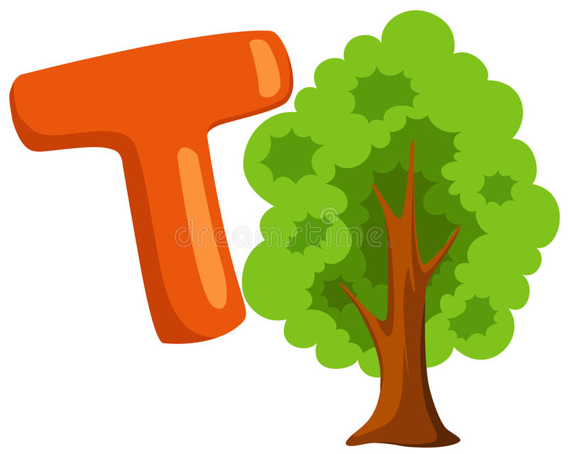 Download Alphabet  T for tree stock vector. Image of character - 14853667