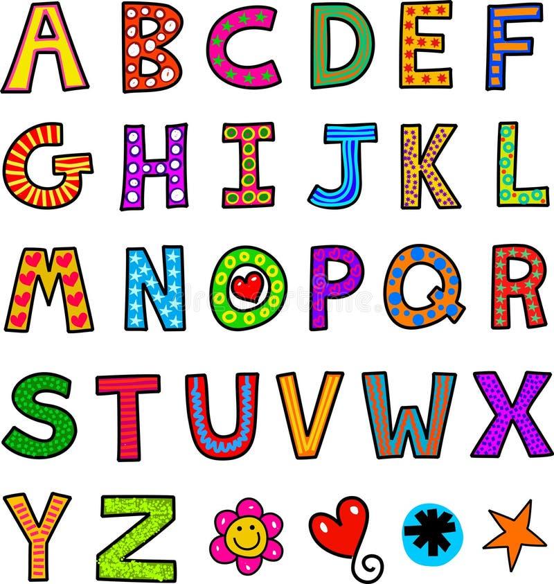 Alphabet-Text-Gekritzel vektor abbildung