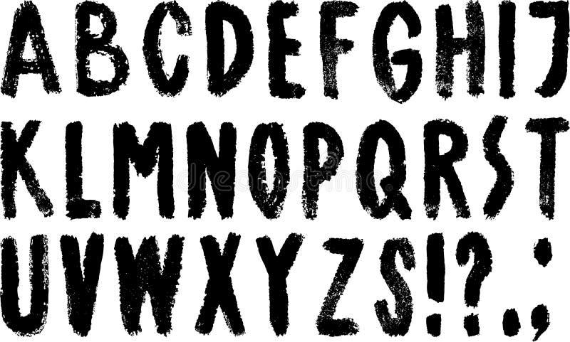 Alphabet tiré par la main illustration libre de droits
