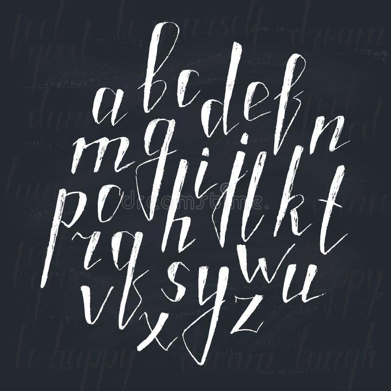 Alphabet tiré par la main illustration de vecteur