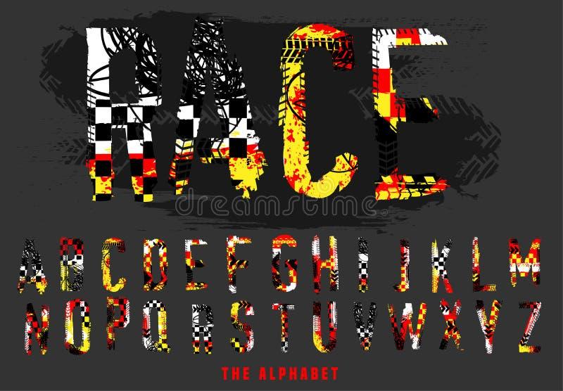 Alphabet tous terrains de rassemblement illustration libre de droits