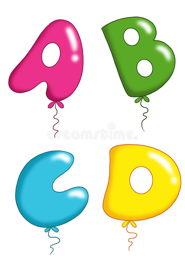Alphabet - toy balloons 1 stock photos
