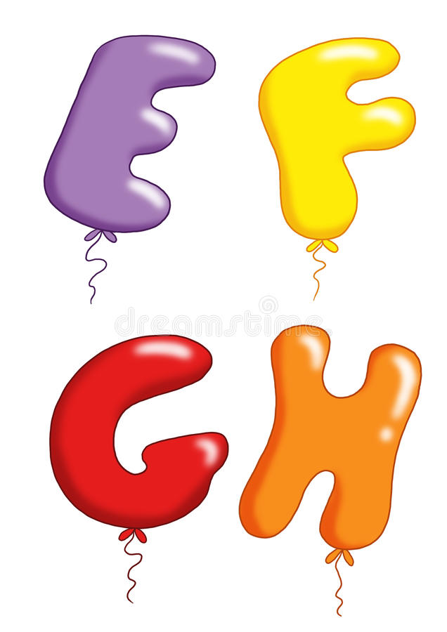 Alphabet - toy balloons 2 stock photography