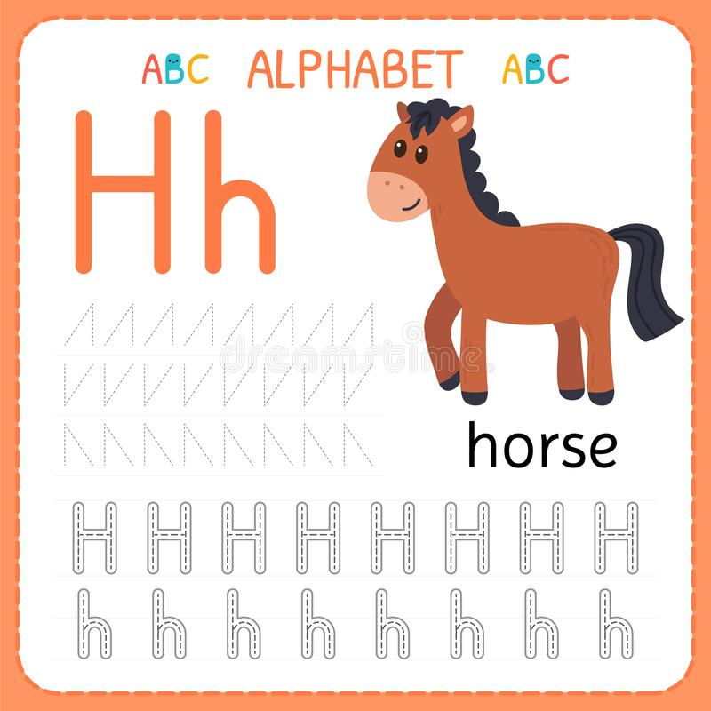 Alphabet tracing worksheet for preschool and kindergarten writing download alphabet tracing worksheet for preschool and kindergarten writing practice letter h exercises for spiritdancerdesigns Images