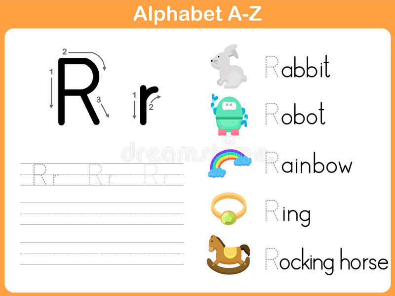 letter a activities alphabet tracing worksheet stock vector illustration of 20639