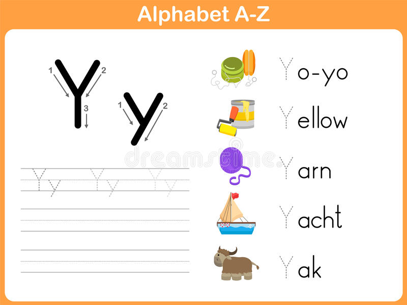 Alphabet Tracing Worksheet stock vector. Illustration of lined ...