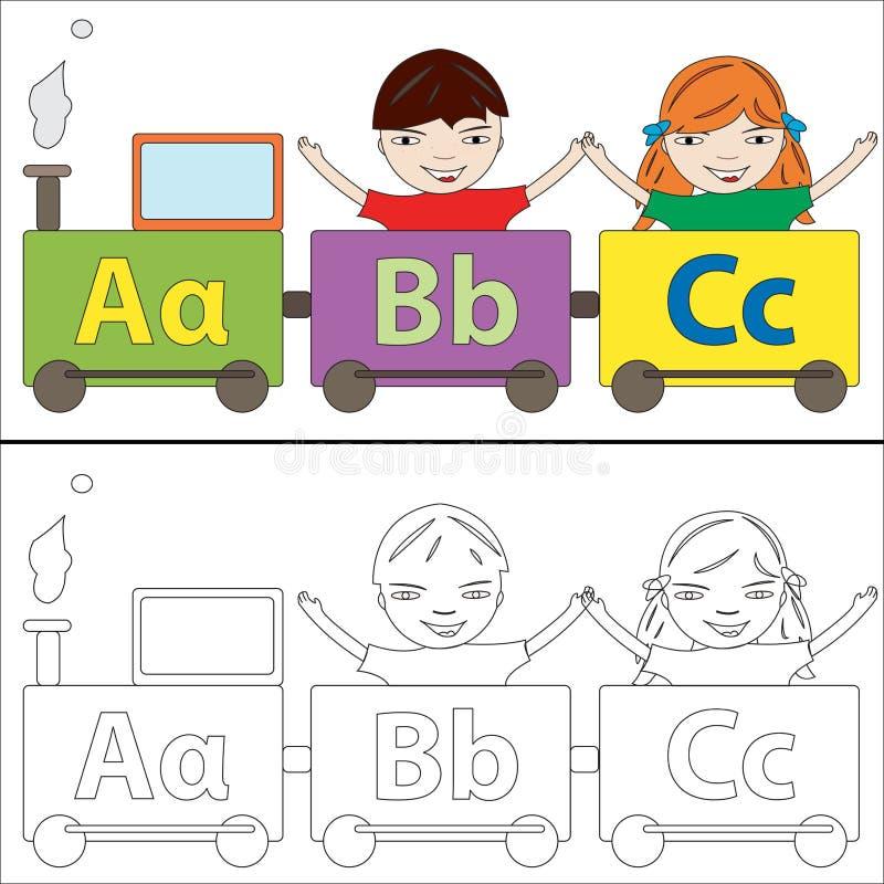 Alphabet Train Stock Photo
