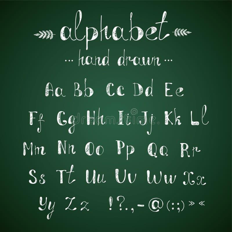 Alphabet- und Interpunktionstafel lizenzfreie abbildung