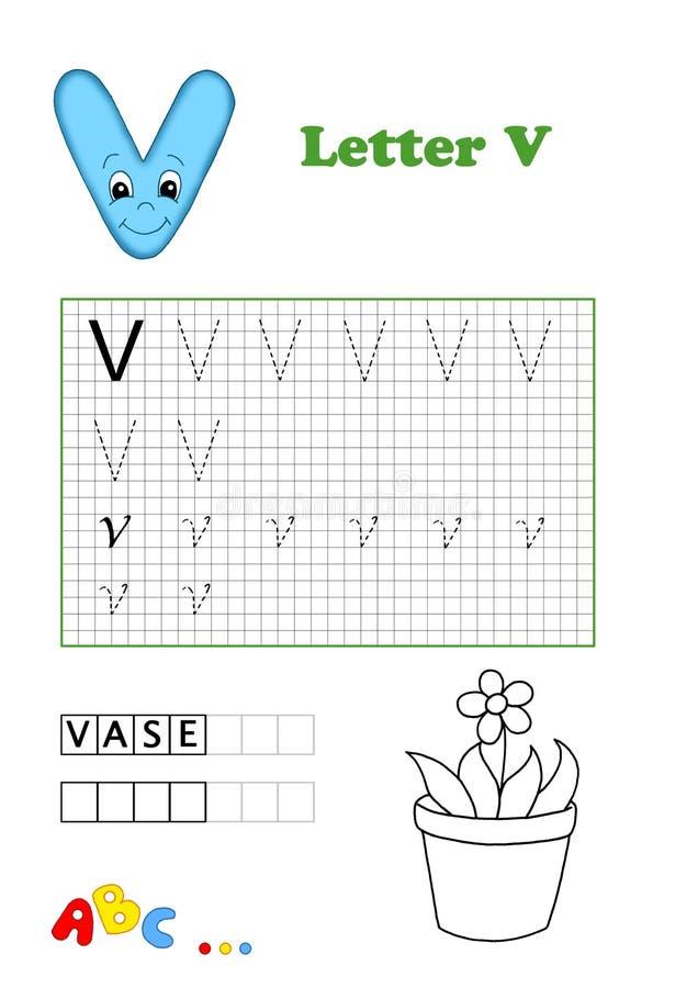 Alphabet, Vase Lizenzfreie Stockbilder