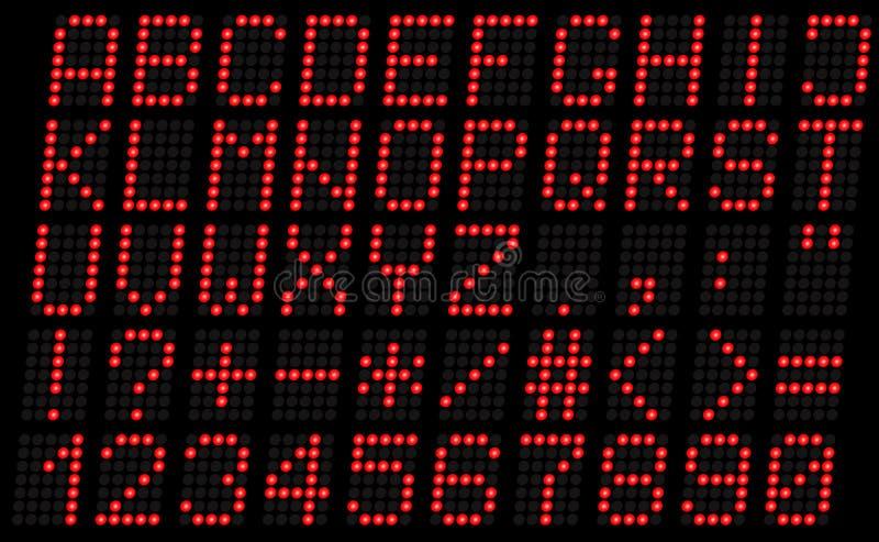 Alphabet, Versalienrot Lizenzfreie Stockfotos