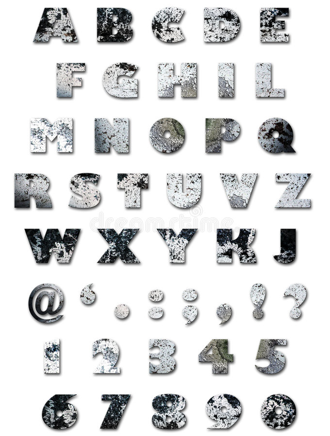Alphabet - Wall Texture