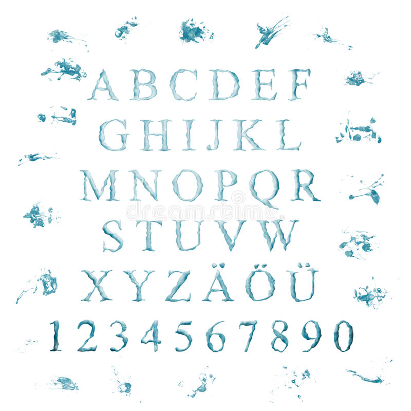 Alphabet With Water Letters Stock Images