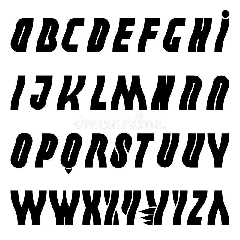 Free Alphabet Wavy Liquid Font Royalty Free Stock Photography - 36119967