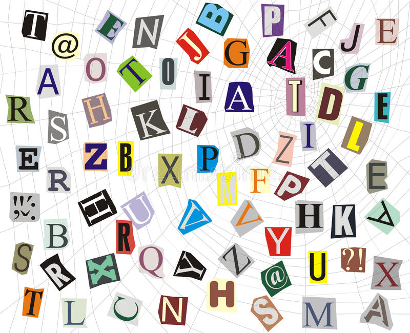 Download Alphabet On A Web Stock Image - Image: 21828121