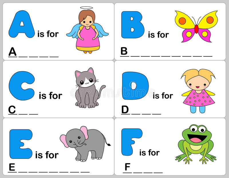 Alphabet word stock illustration