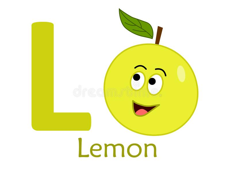 Alphabet word L.L for lemon royalty free illustration