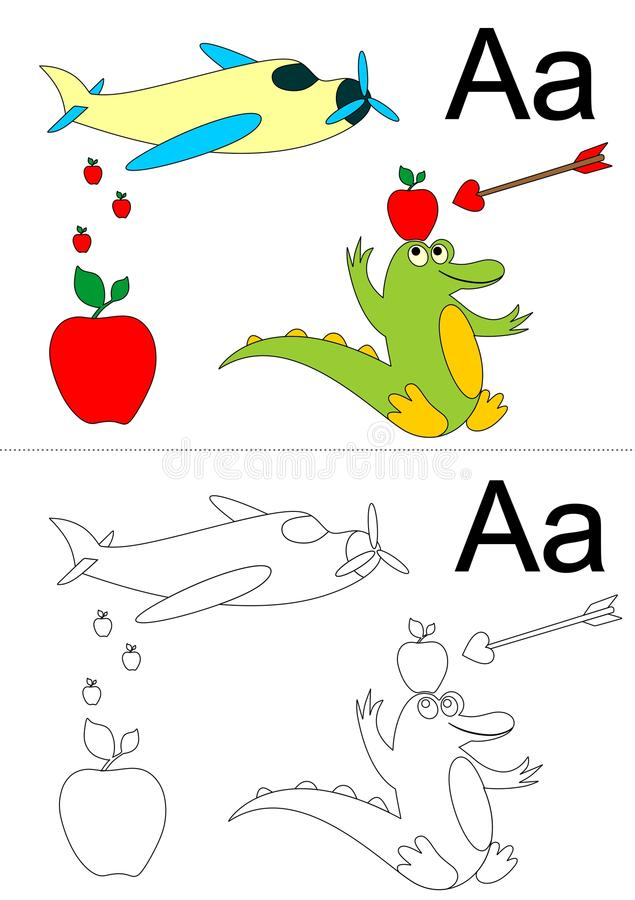 letter a worksheet royalty free stock photography