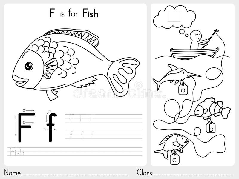 Outline Funny Kids Reading Books For Coloring: Alphabet A-Z Tracing And Puzzle Worksheet, Exercises For