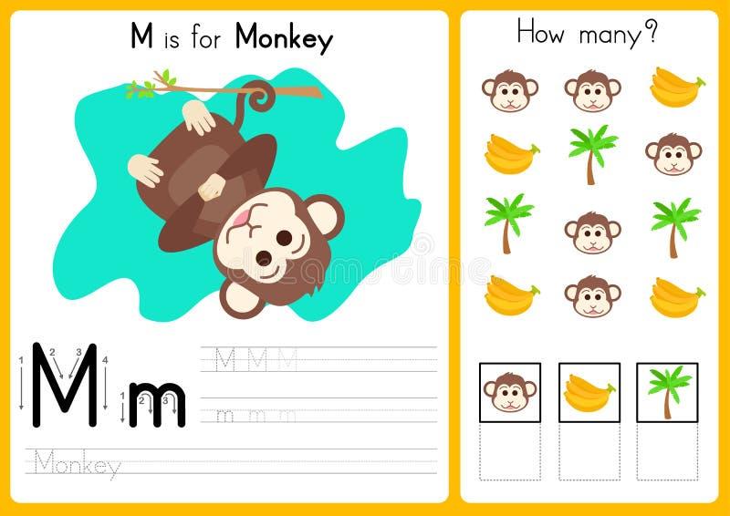 Fancy Kindergarten Alphabet Arbeitsblatt Tracing Illustration ...