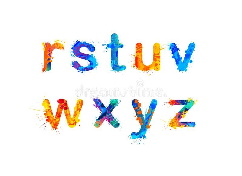 Alphabet zeichen Teil 3 von 3 lizenzfreie abbildung