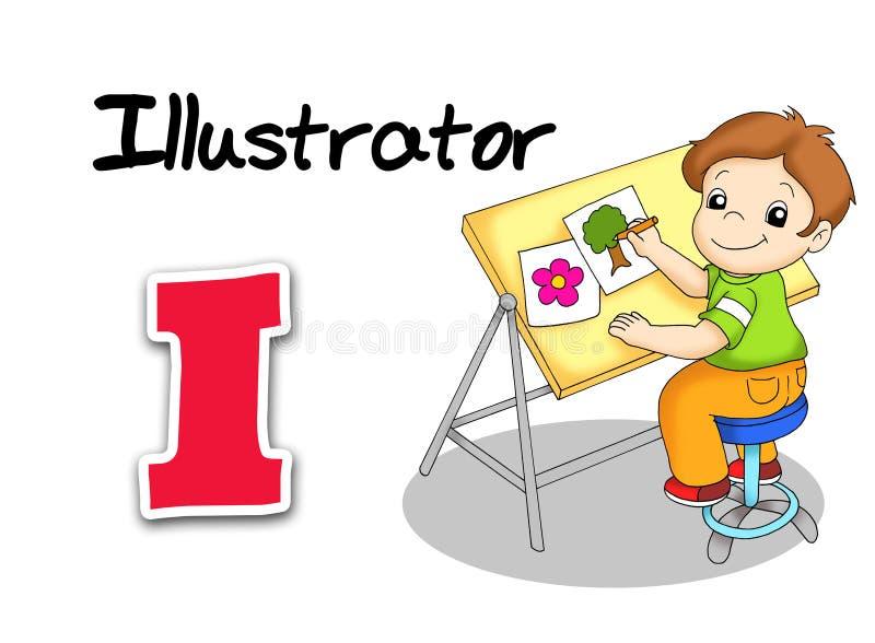 Alphabetarbeitskräfte - Illustrator lizenzfreie abbildung