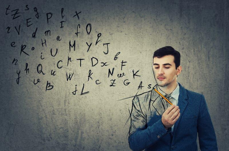 Alphabetbuchstabeentweichen lizenzfreie stockbilder