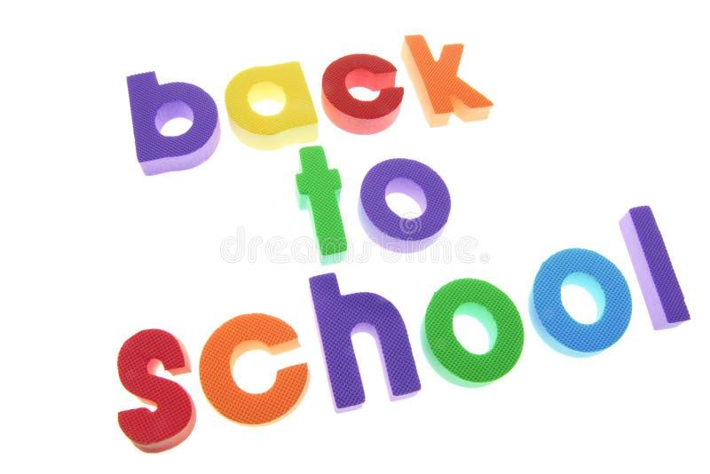 Alphabete - zurück zu Schule lizenzfreies stockfoto