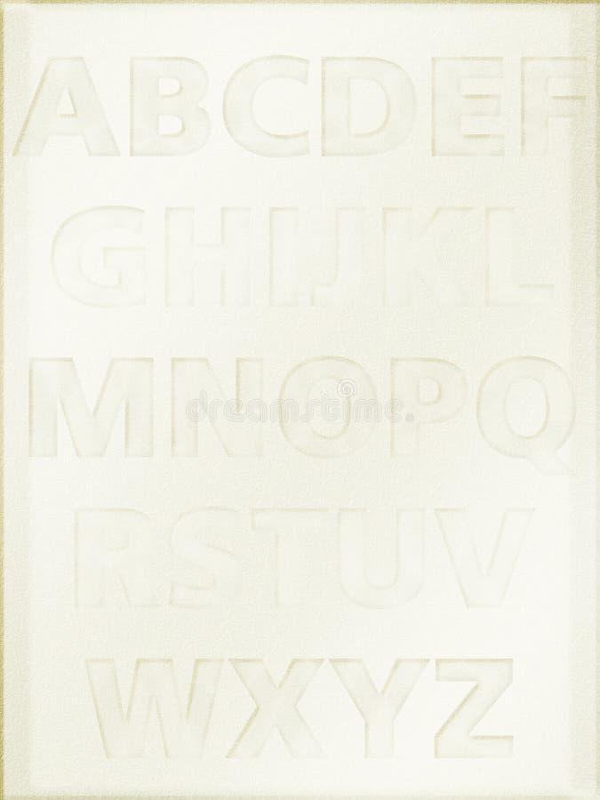 Alphabethintergrund lizenzfreie abbildung