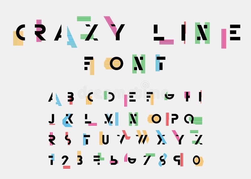 Alphabetic fonts stock illustration