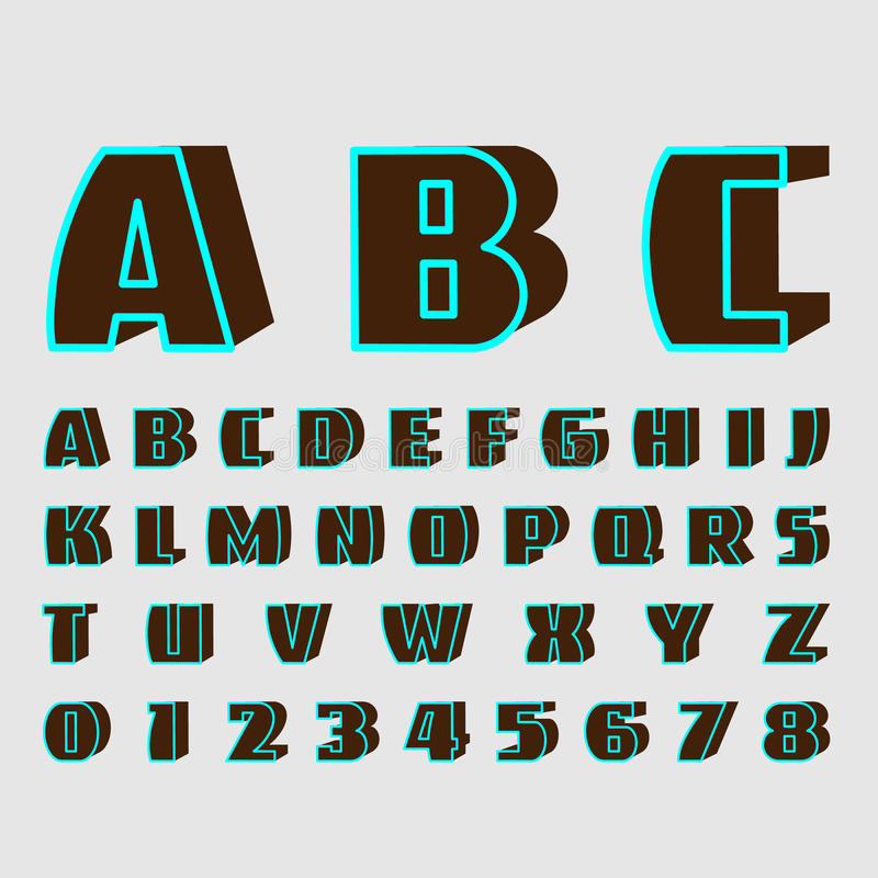 Download Alphabetic Fonts And Numbers Stock Vector - Illustration of light, shadow: 40935369