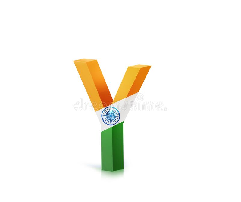 ALPHABETIC LETTERS WITH INDIA FLAG A TO Z AND 1 TO 0, 3D ILLUSTRATION. INDIA FLAG WITH LETTERS ABCDEFGHIJKLMNOPQRSTUVWXYZ vector illustration
